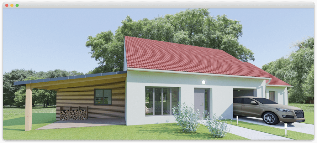 HD rendering of an individual house